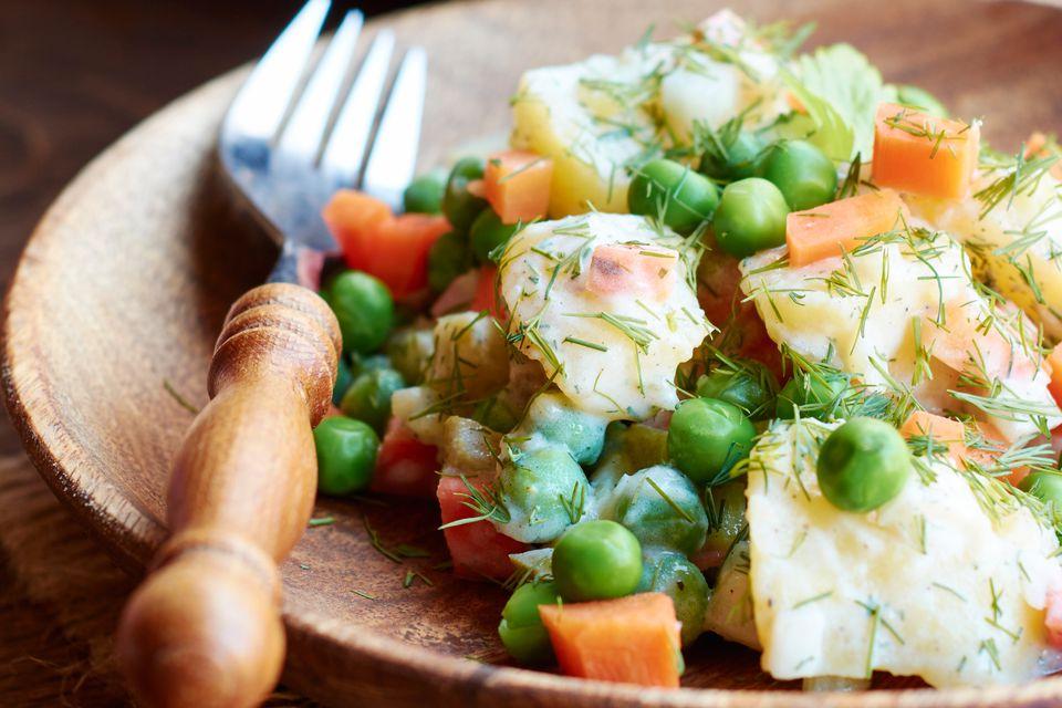 Garden Potato Salad With Peas and Carrots