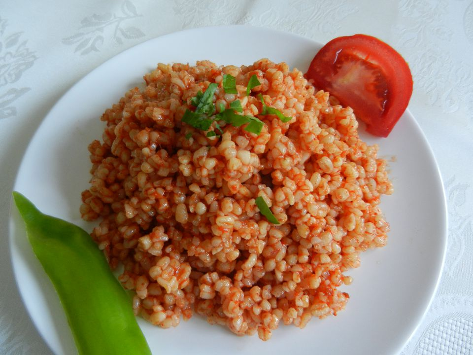 Bulgur and vegetable pilaf