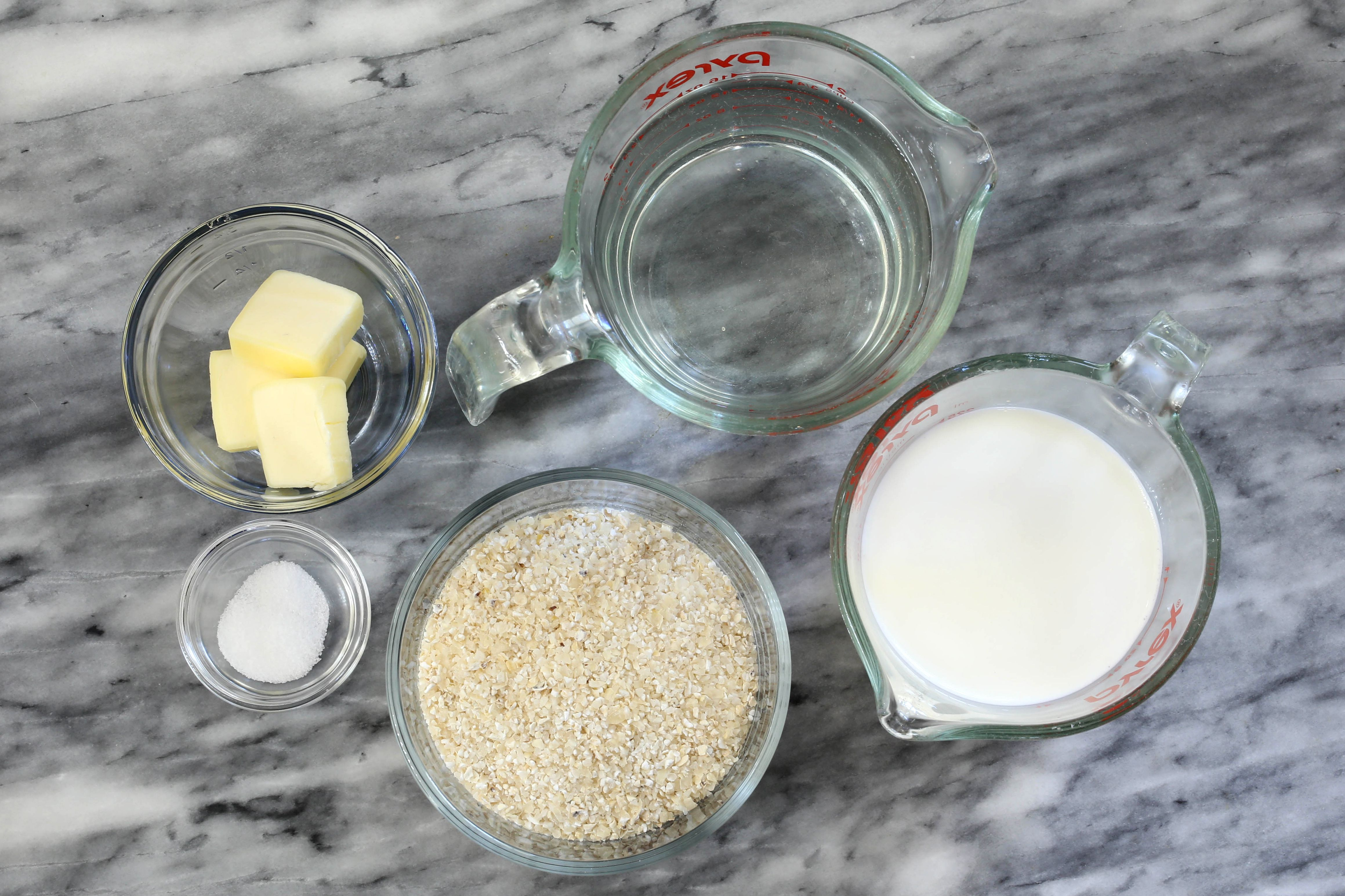 Ingredients for Instant Pot grits.