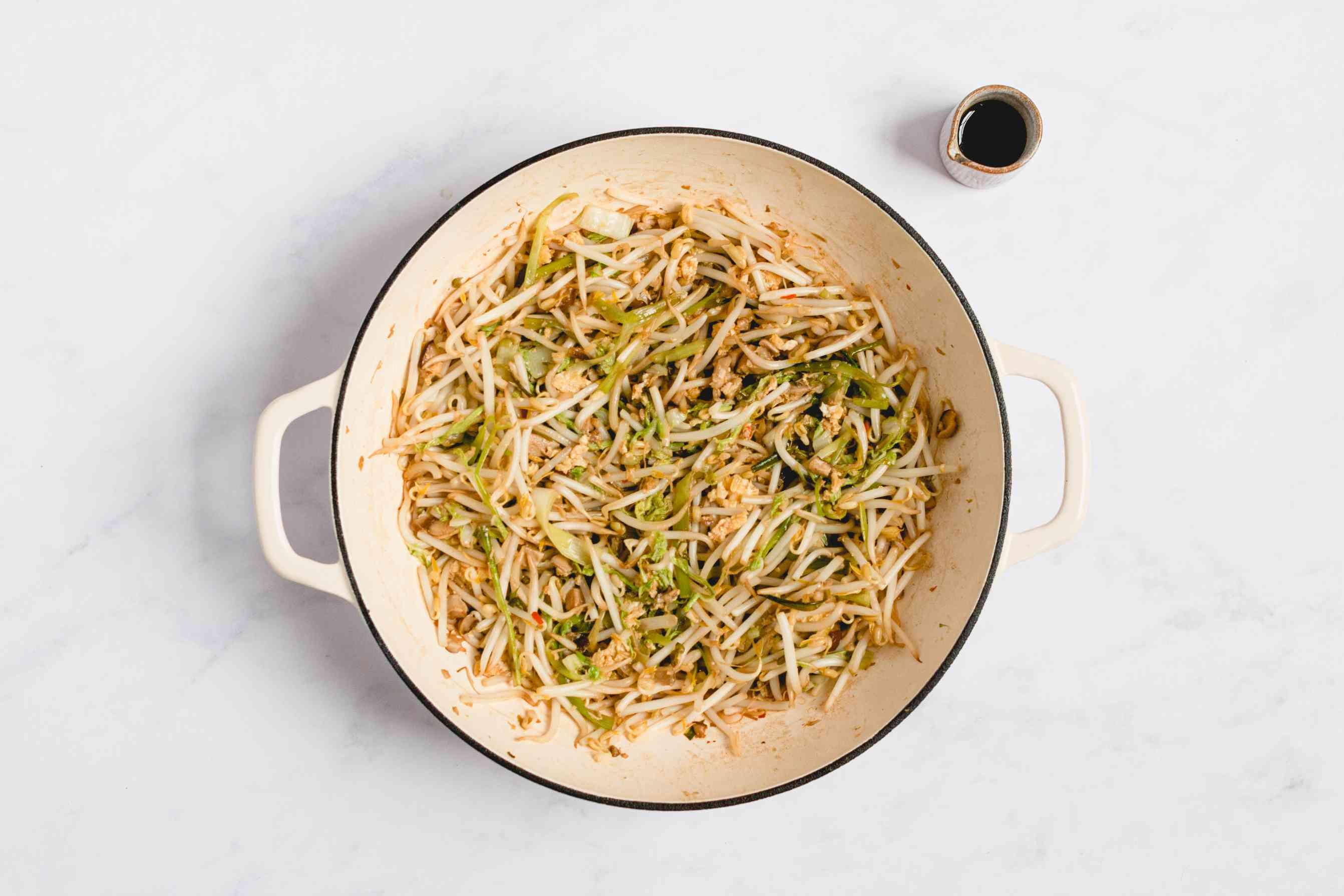 season vegetable mixture with fish sauce