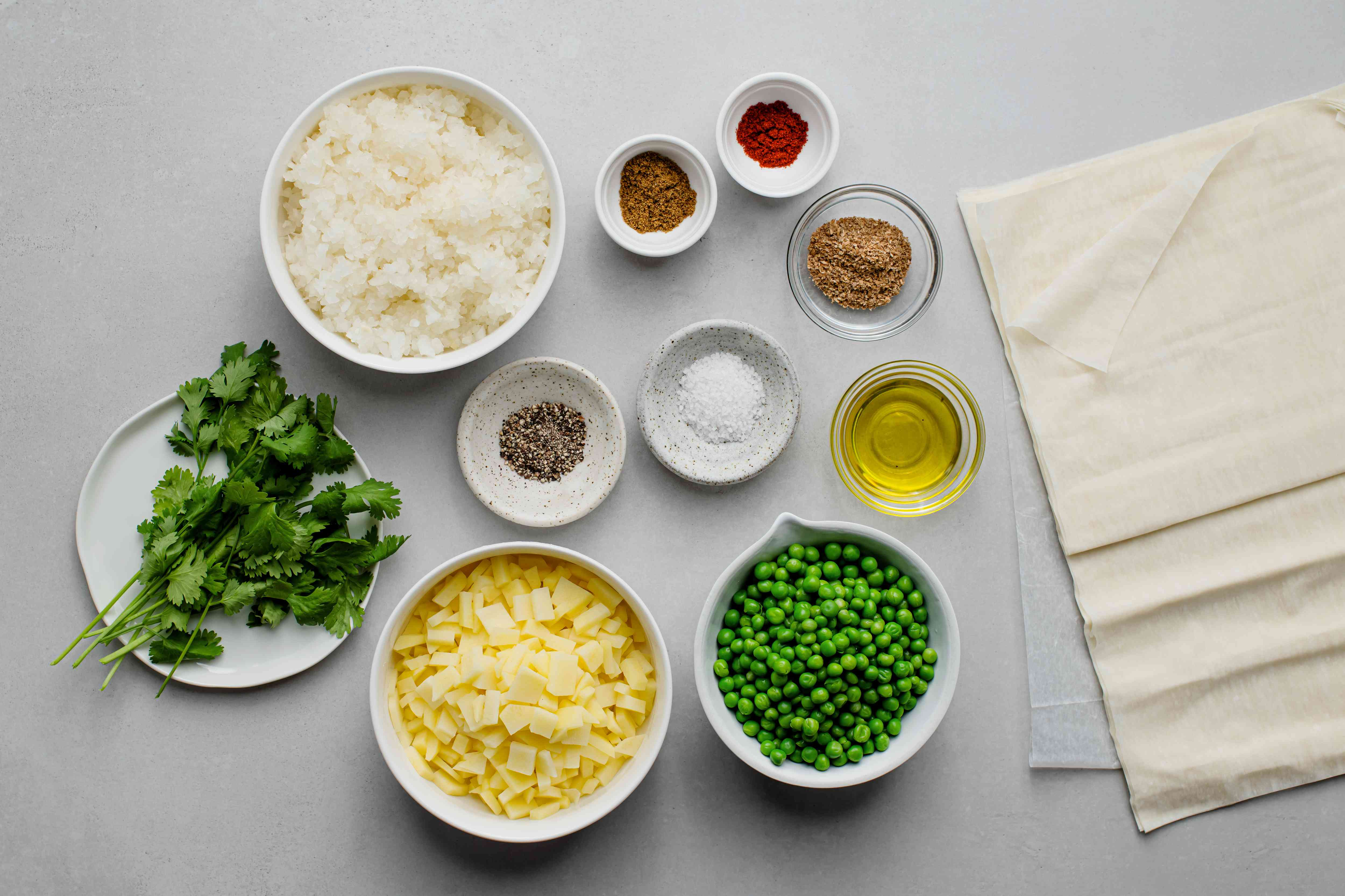 Quick and Easy Baked Vegetarian Samosas ingredients