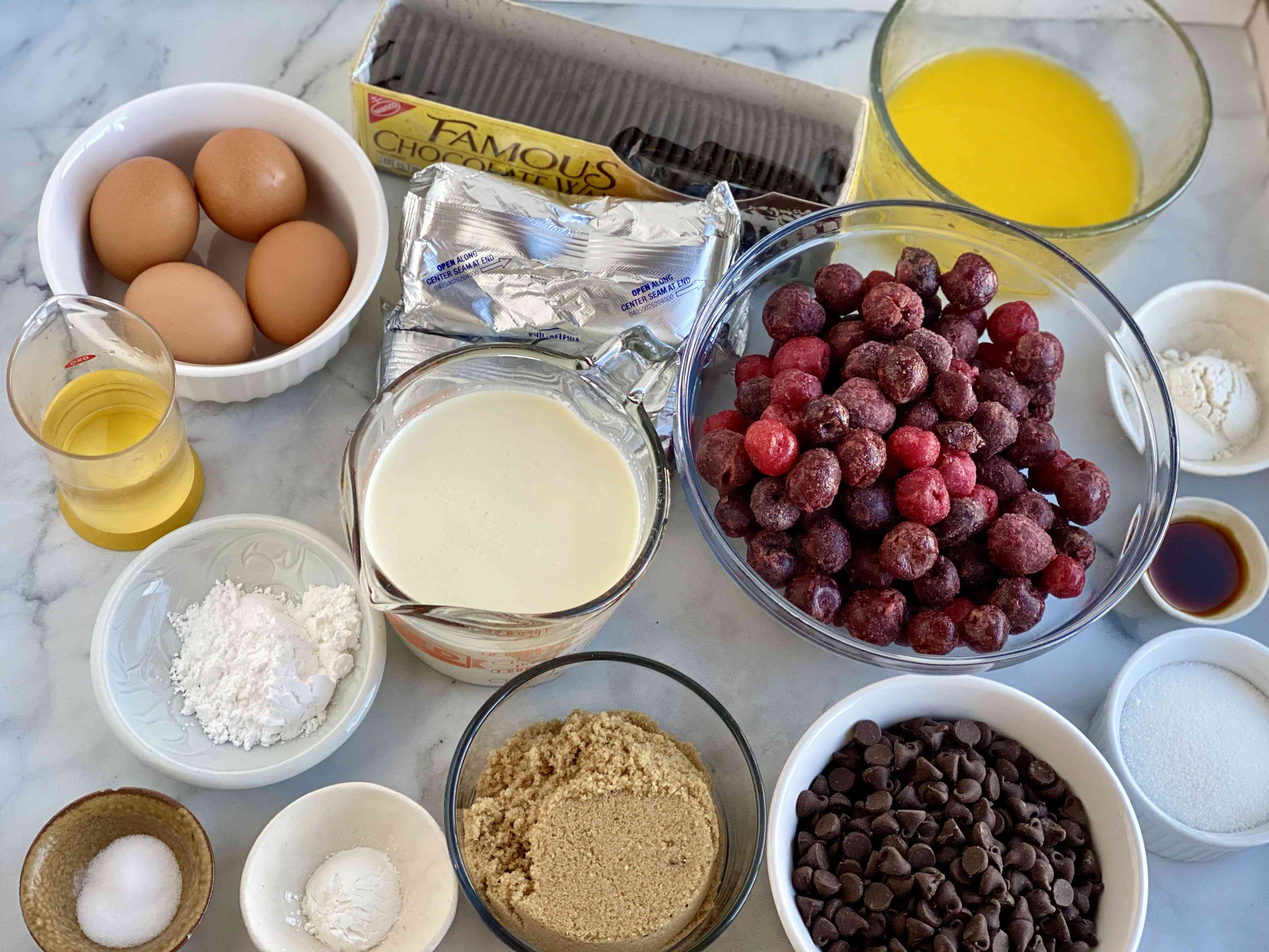 Black Forest Cheesecake Ingredients