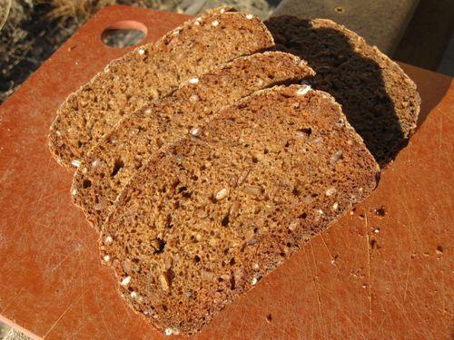 Pumpernickel Bread with Whole Rye Berries