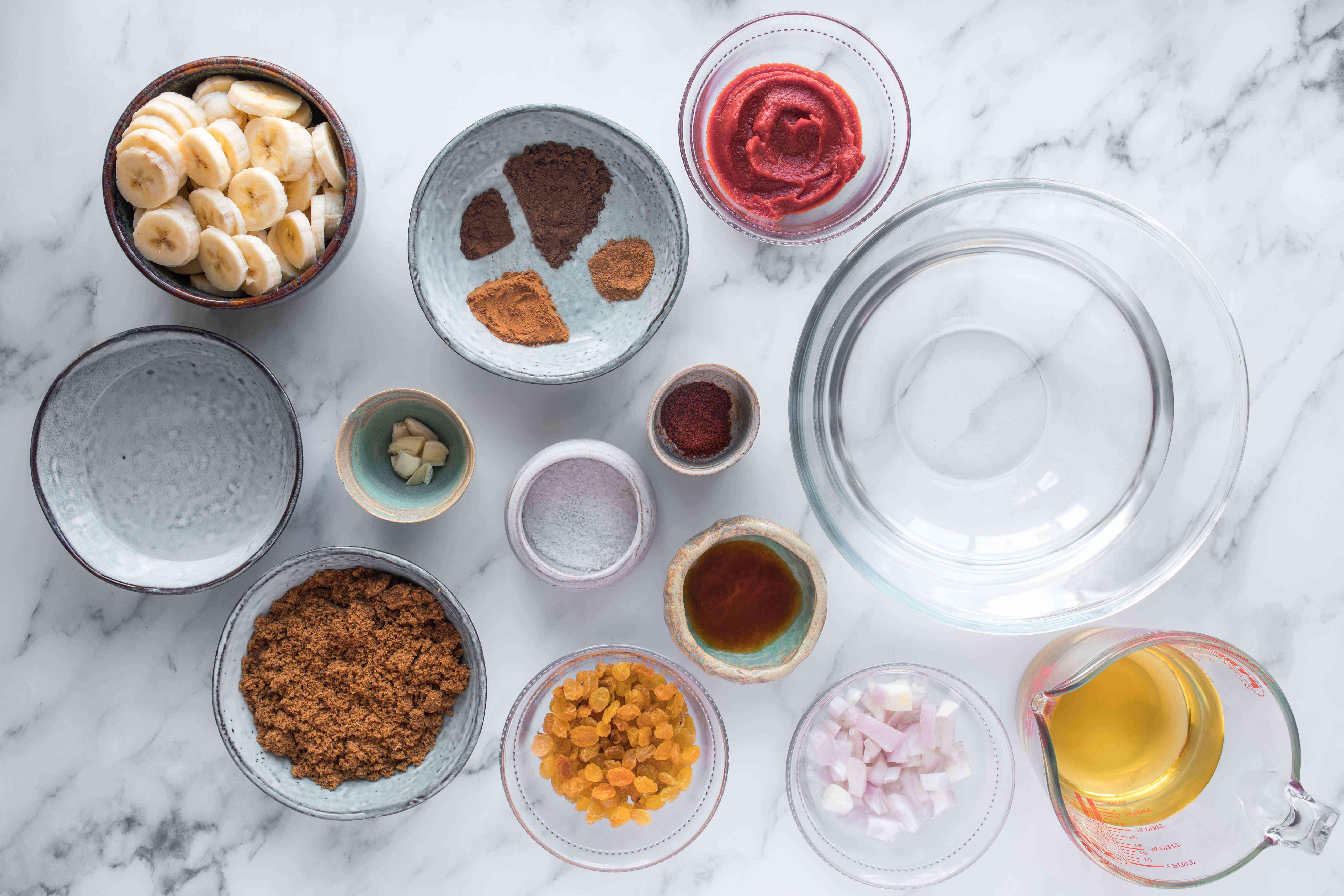 Ingredients for banana ketchup