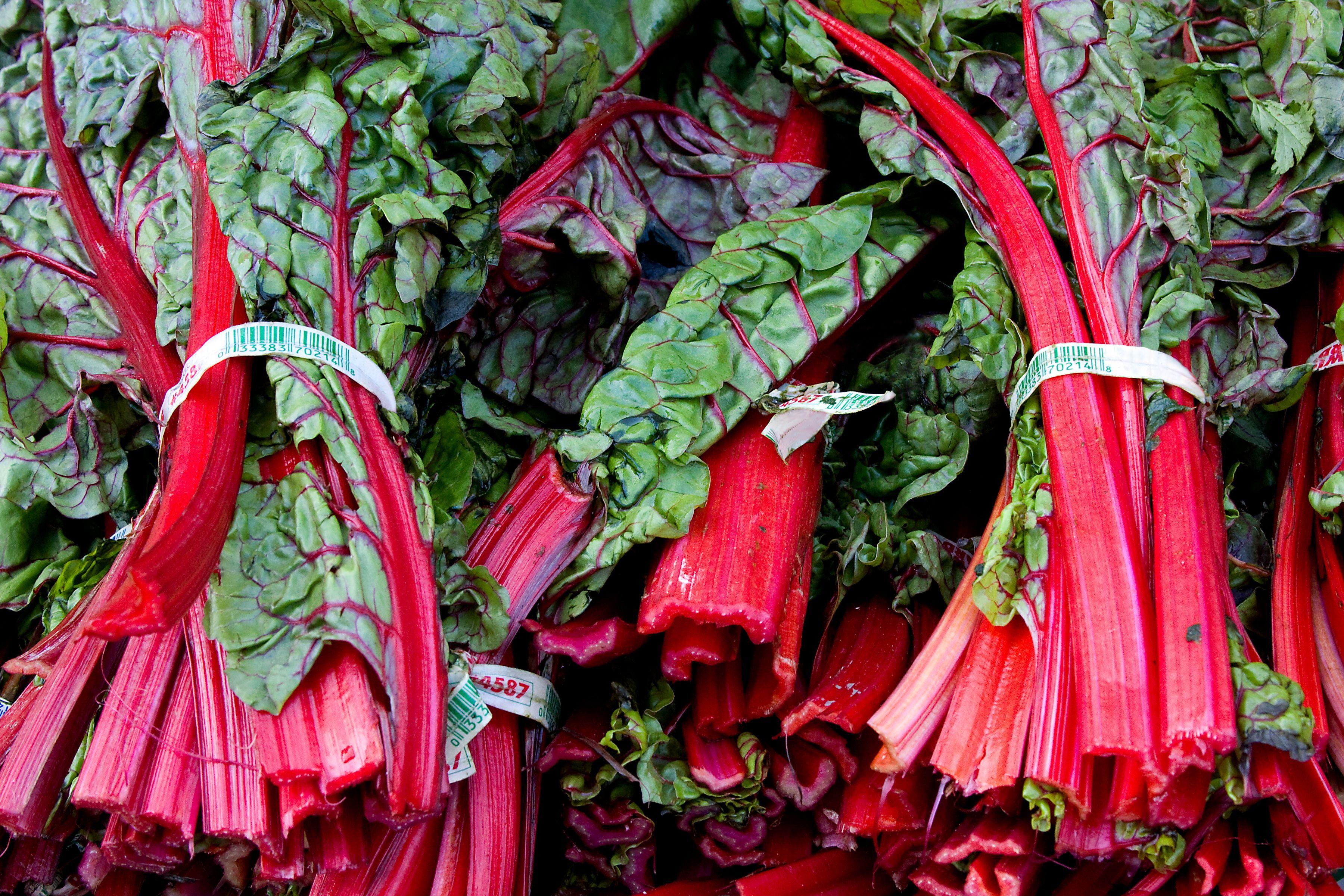 Red Swiss Chard at Market