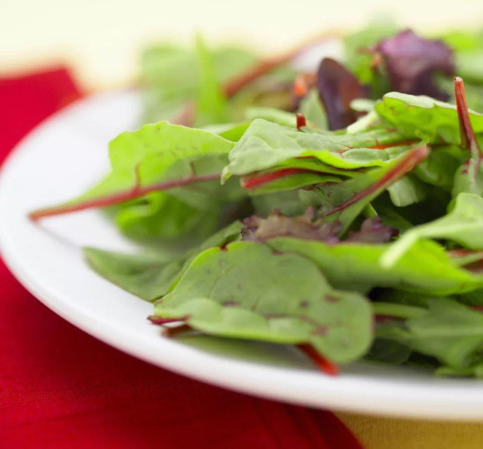 Raw Beet Green Salad