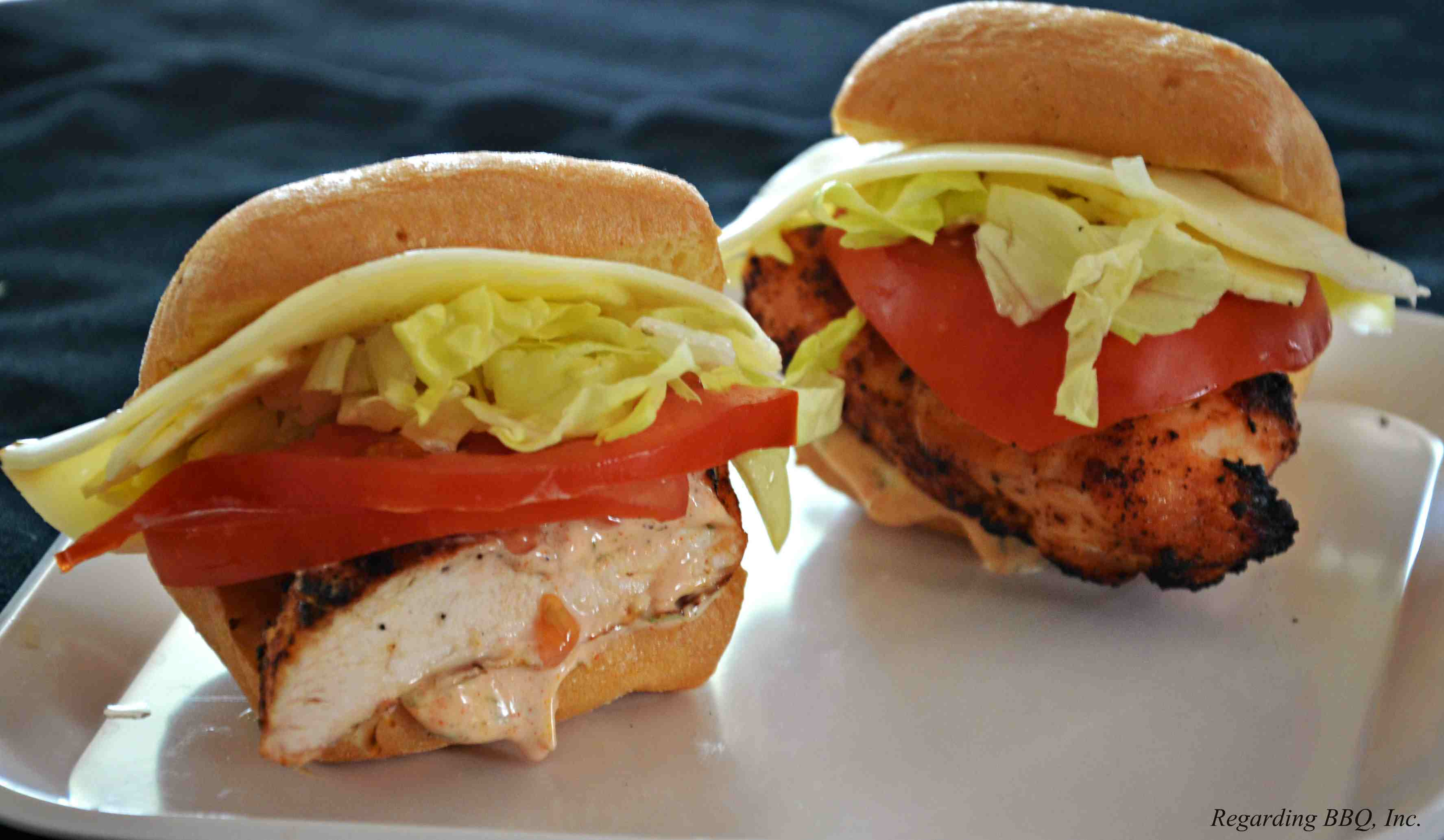 Chicken and Cheese Po'Boy Sliders