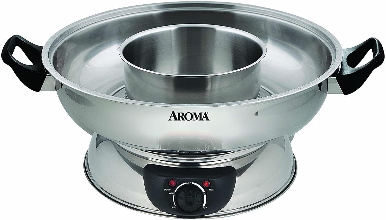 Aroma Housewares Stainless Steel Hot Pot ASP-600