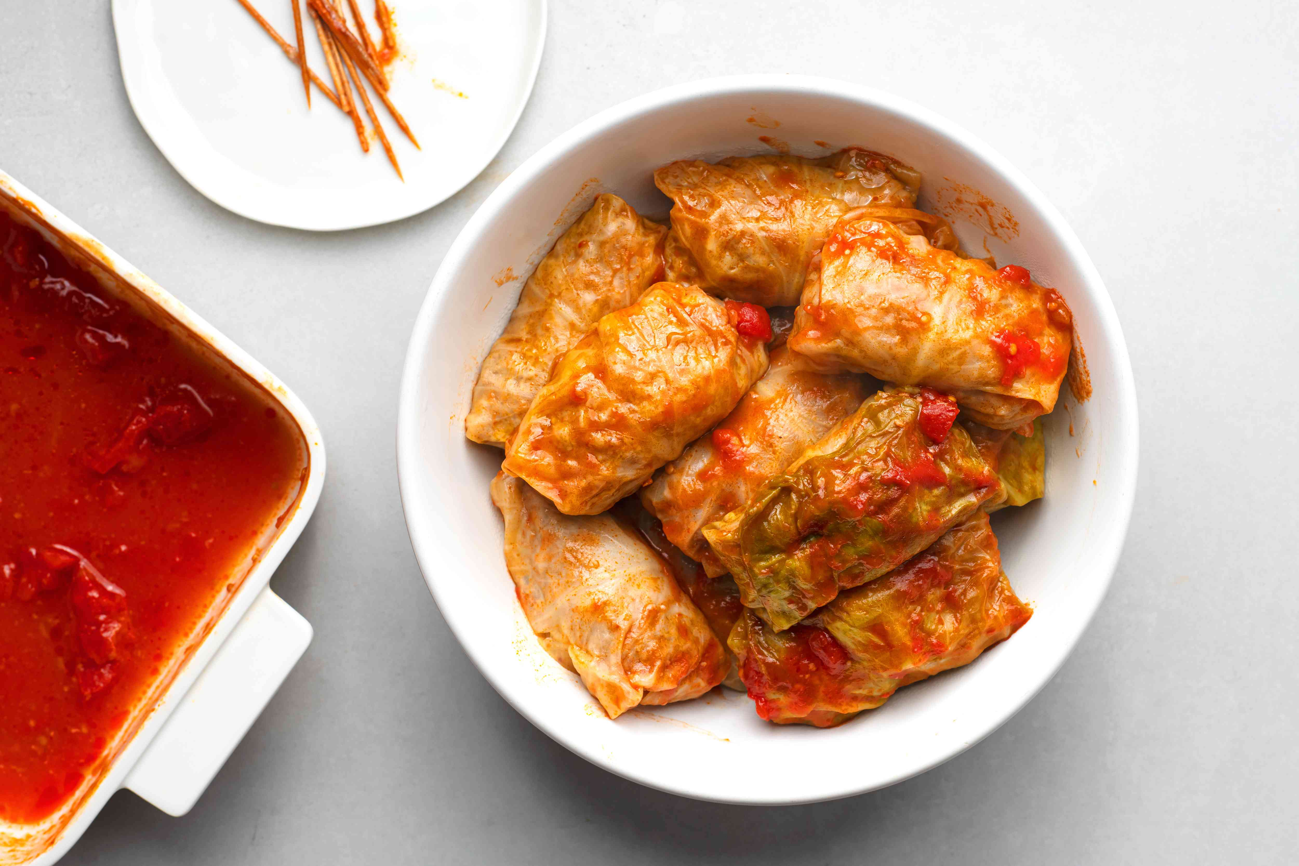 cabbage rolls in a bowl