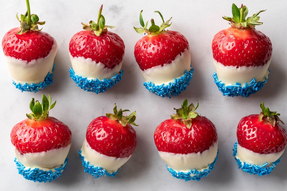 Red, White, and Blue Strawberries Recipe