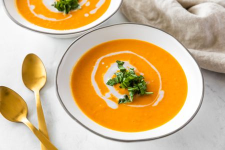 Gluten-Free Creamy Vegan Carrot Soup With Coconut