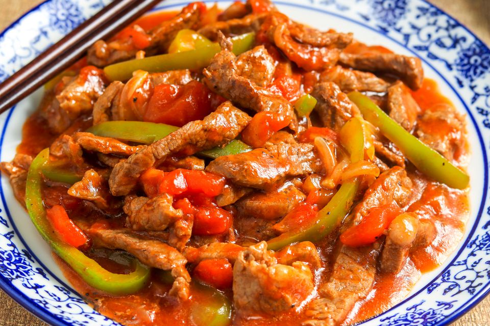 Pepper steak with sirloin tips