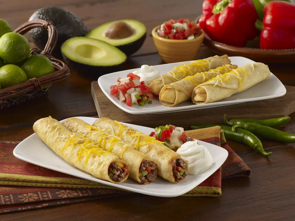 Chile and cheese flautas