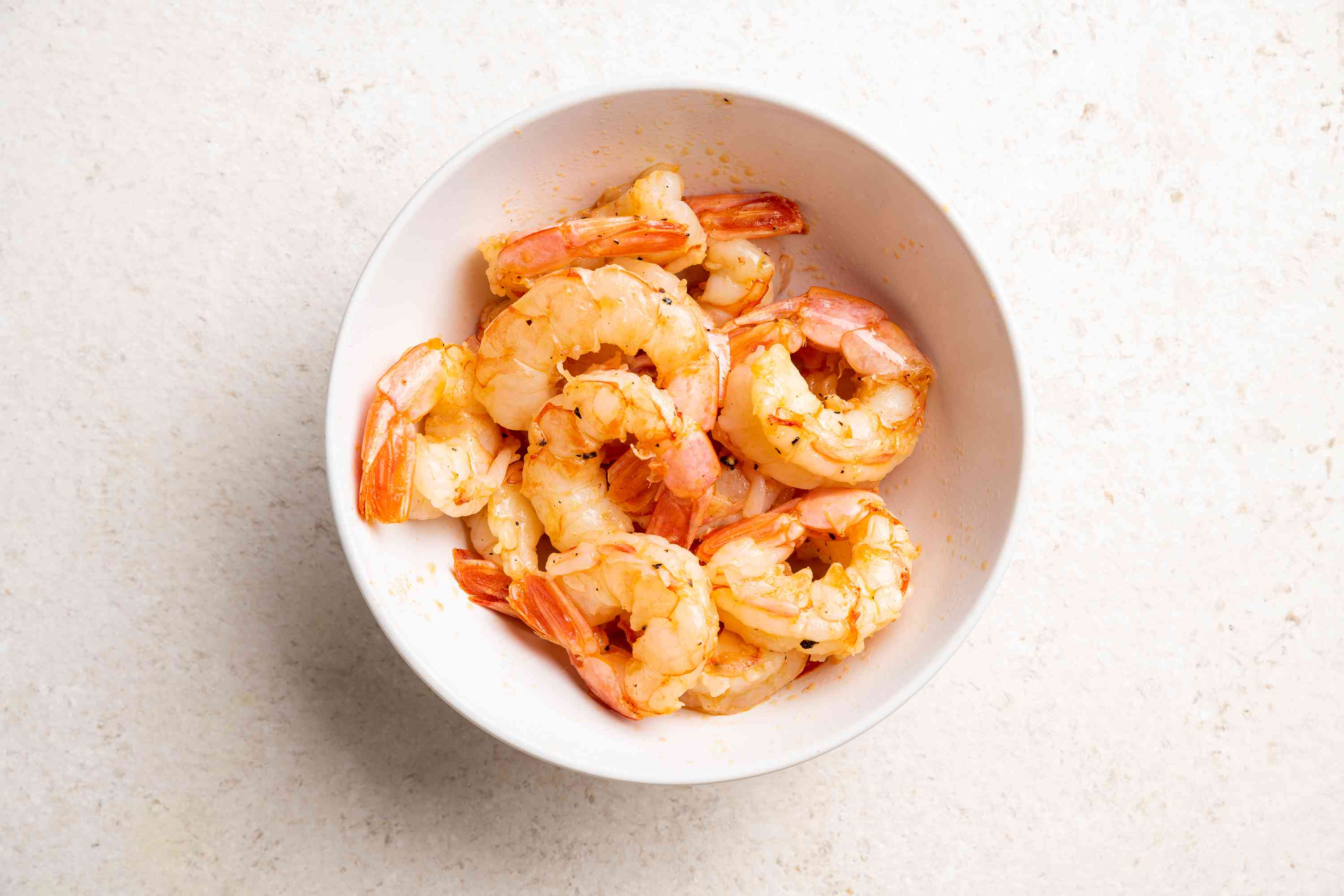 cooked shrimp in a bowl
