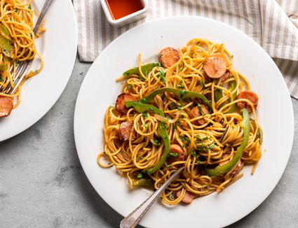 Spaghetti Napolitan (Japanese Ketchup Pasta)