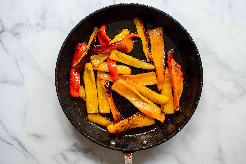 Sauté the peppers
