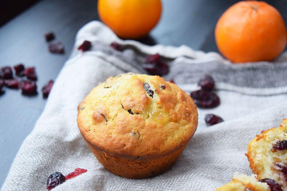 Receta de muffins de arándano y naranja