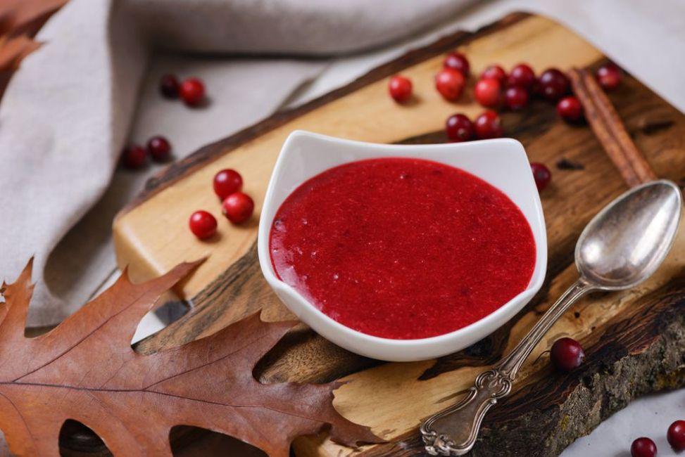 Cranberry coulis