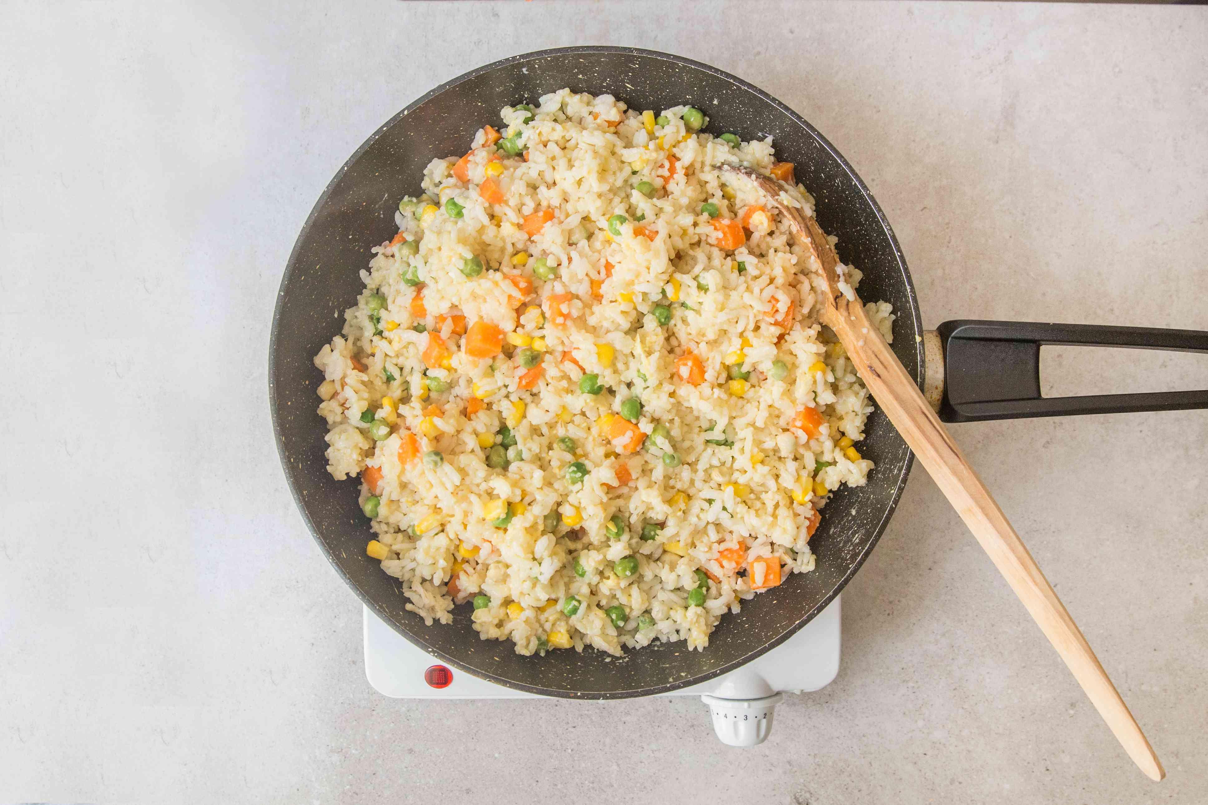 Gradually stir in vegetables