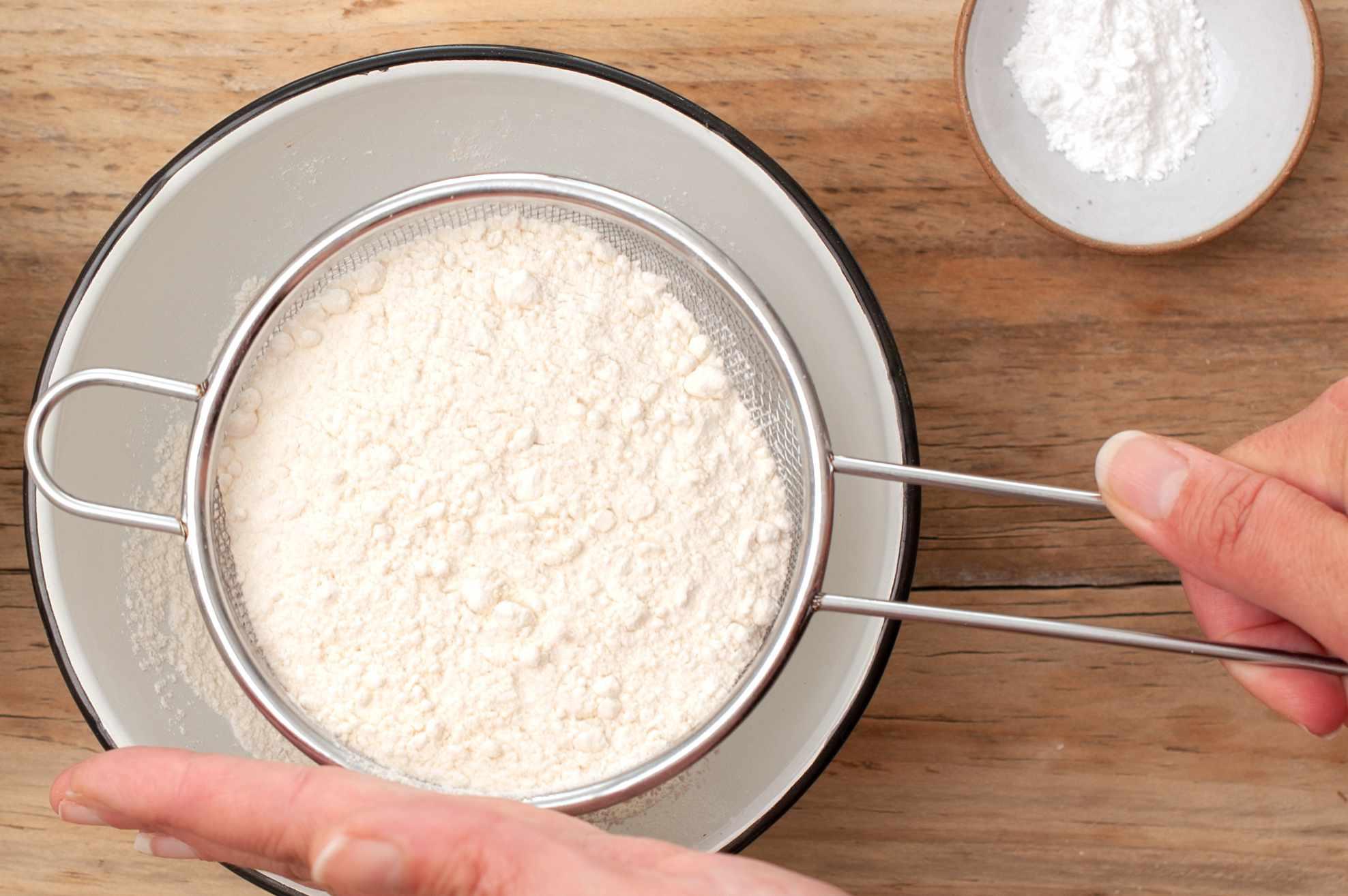 Stir flour and salt