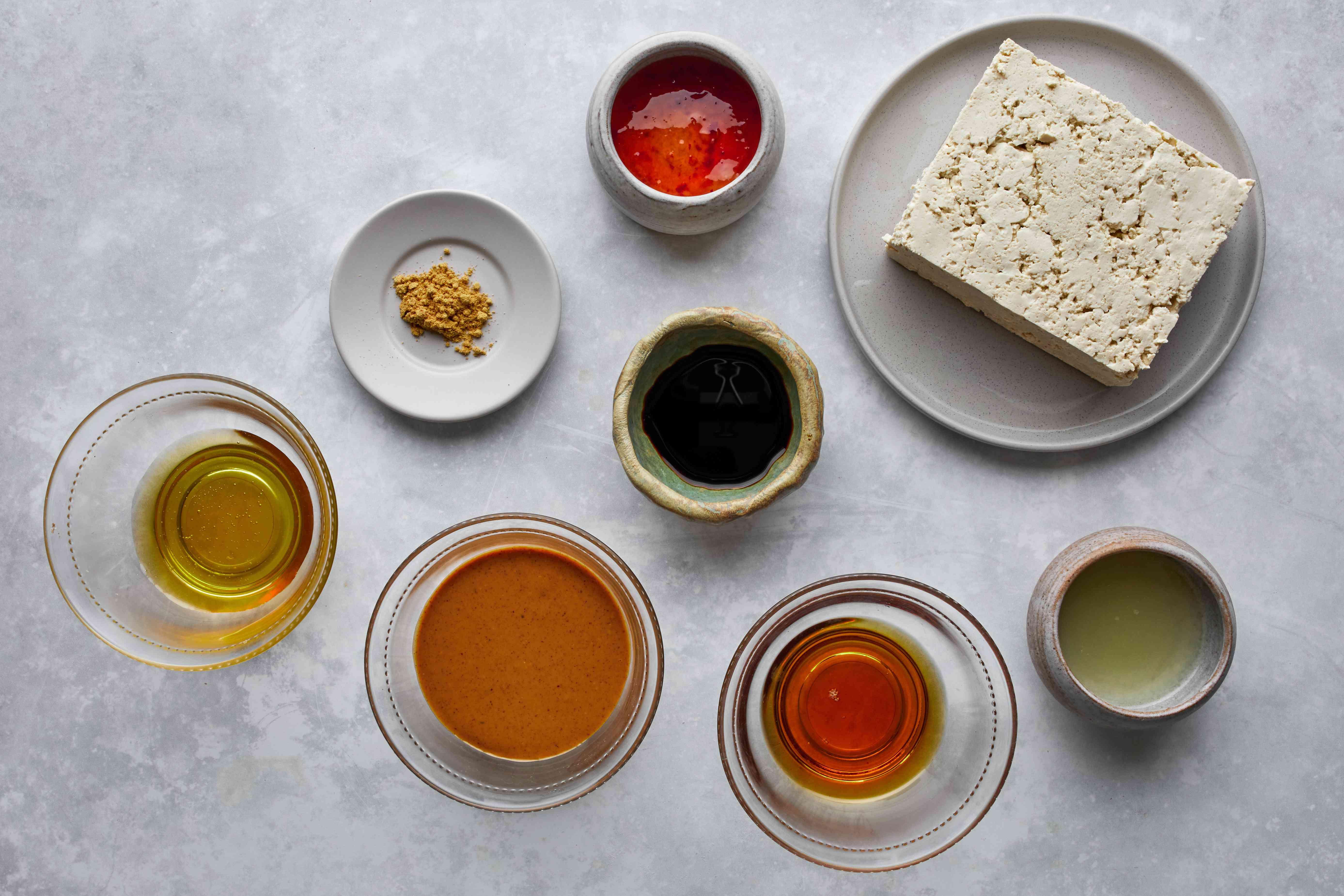 Ingredients for Baked Tofu in Thai Peanut Sauce recipe