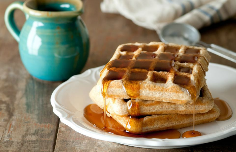 Low Fat Whole Wheat Vegan Waffles