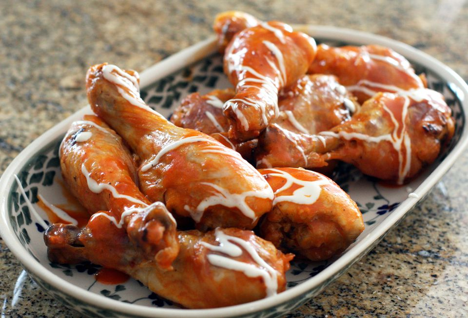 Baked Chicken Drumsticks, Buffalo-Style