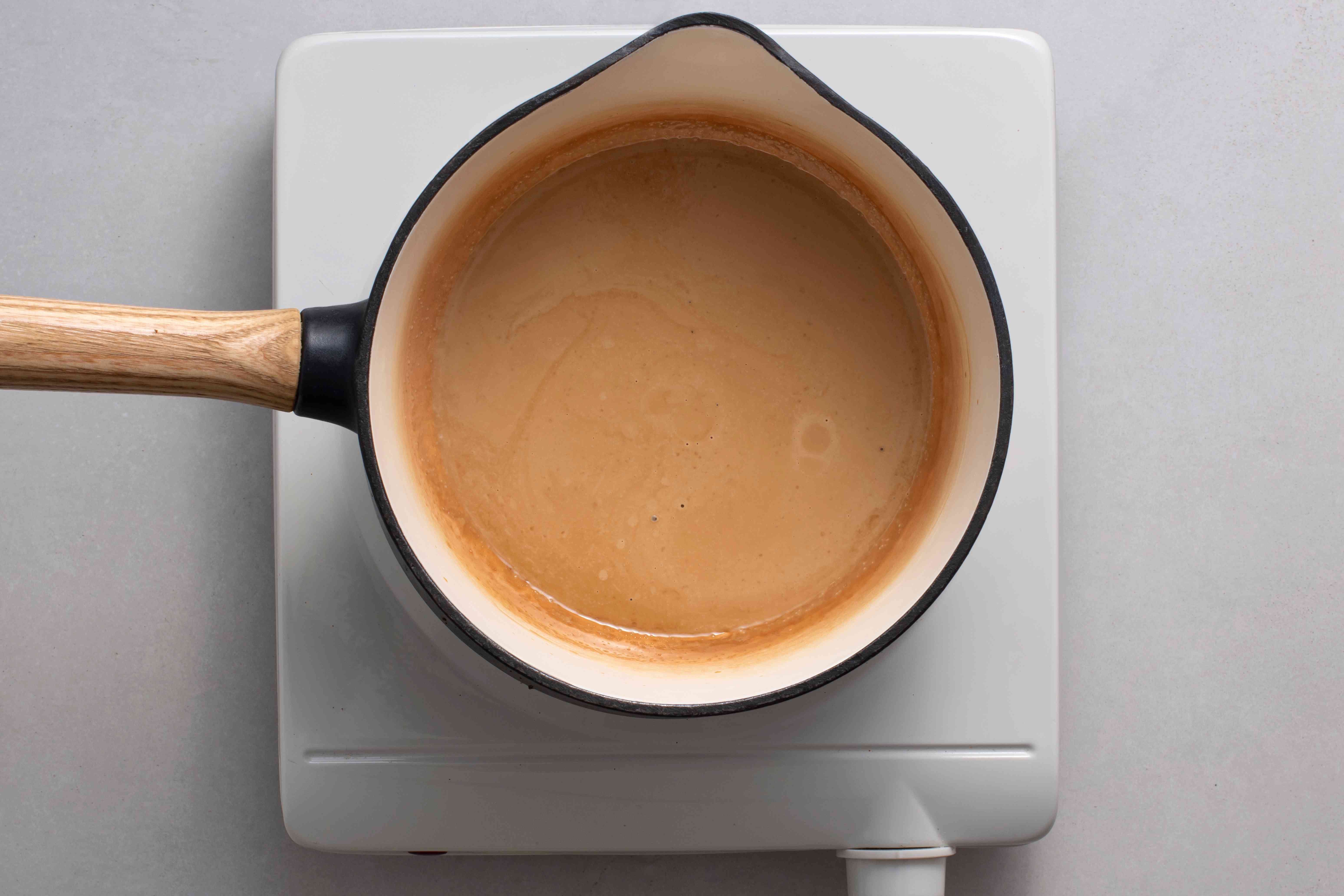heavy cream, instant coffee, salt, and vanilla extract in a small saucepan