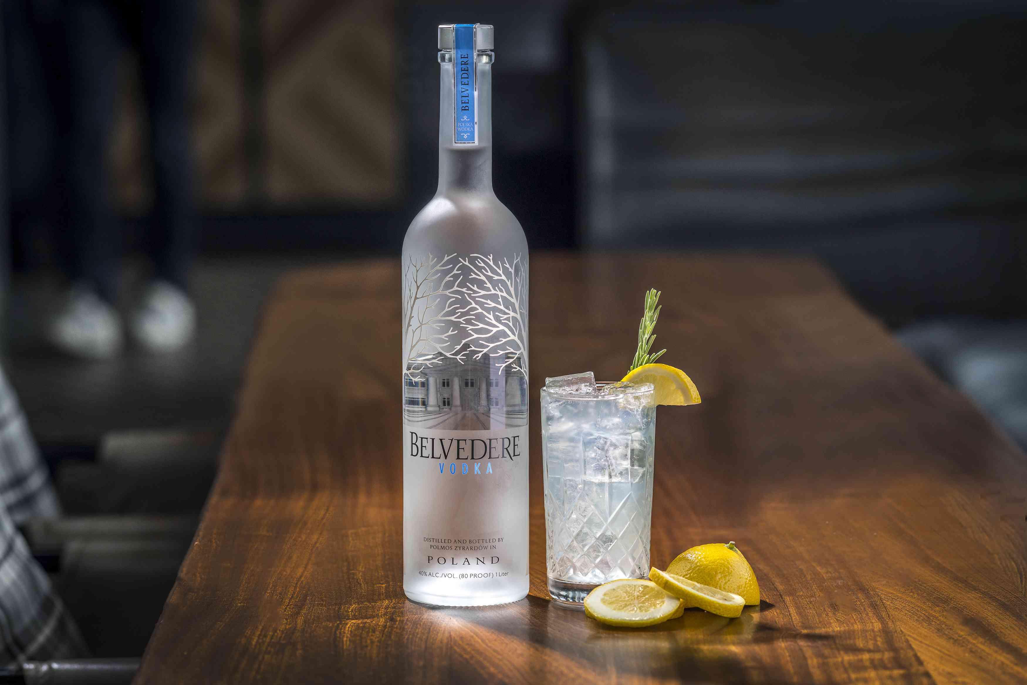 Belvedere Pure Vodka and Vodka Collins Cocktail