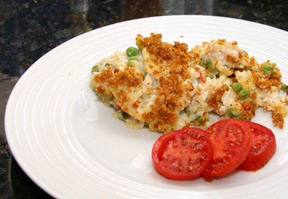 Chicken and Orzo Bake