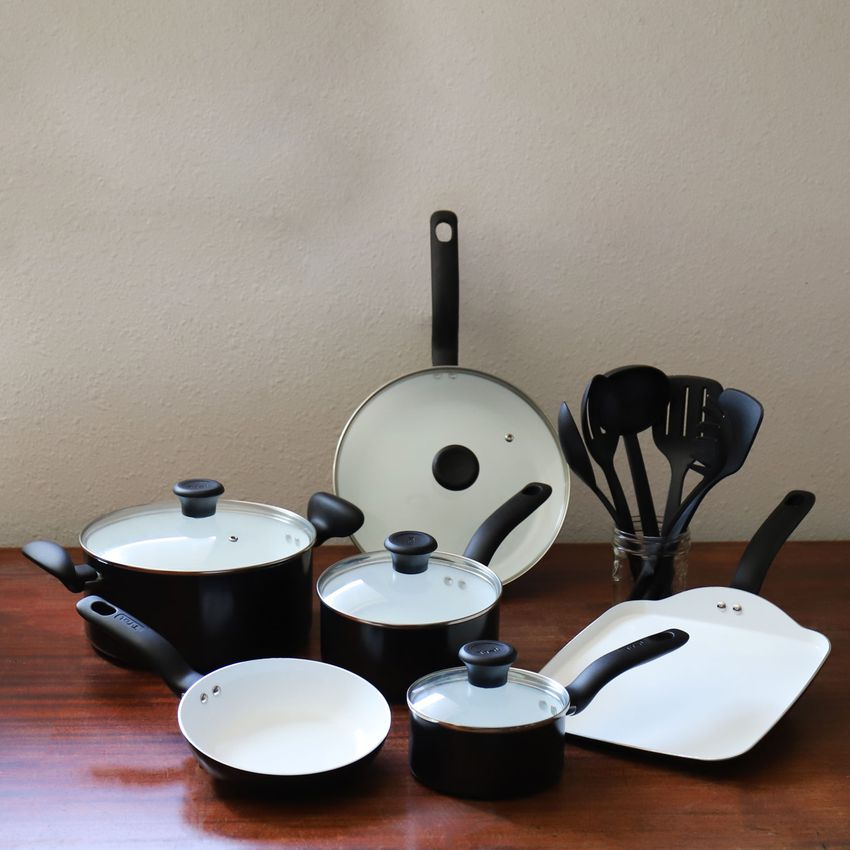 T-fal Initiatives Ceramic 16-pc. Cookware Set