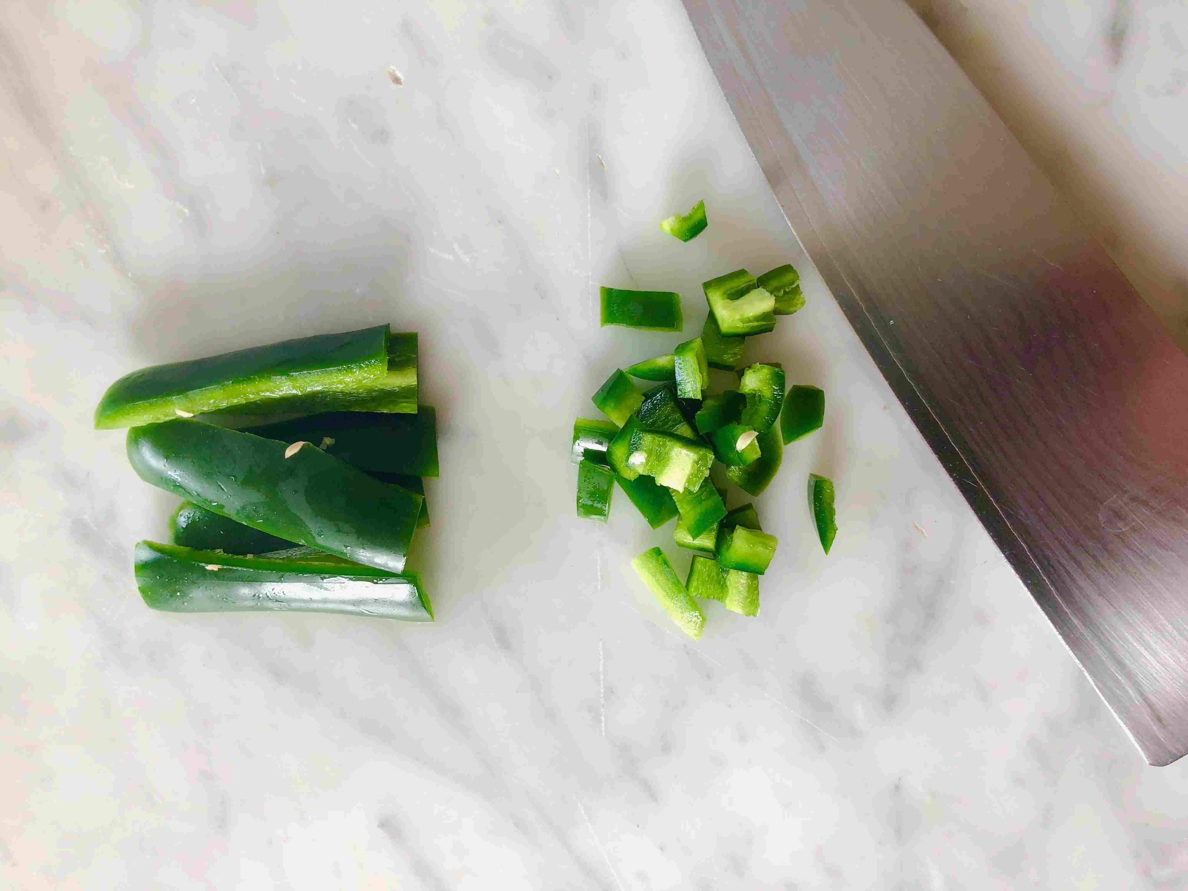 Chopping Chiles