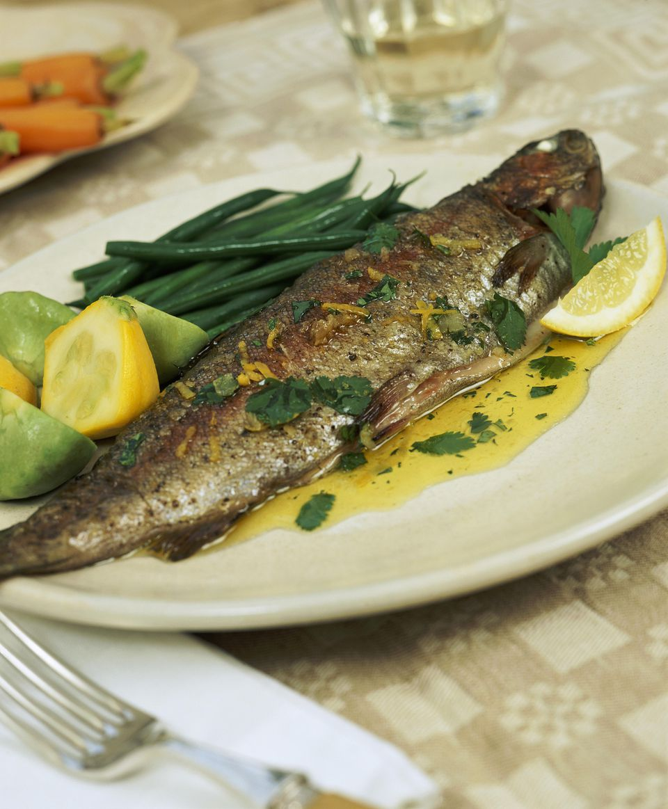 Cilantro and Butter Trout