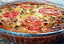 Crustless Cheese and Vegetable Quiche