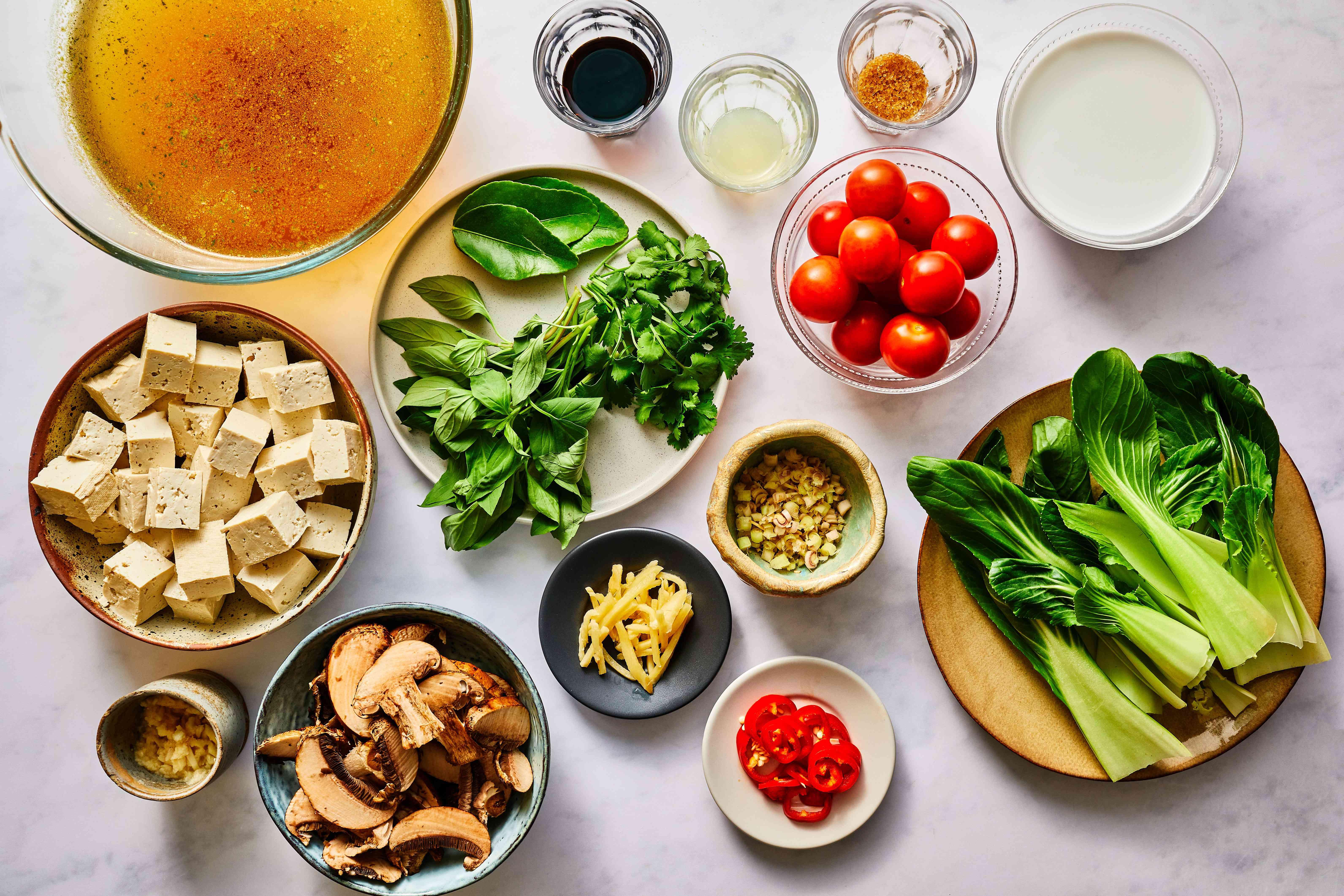 Vegetarian Tom Yum Soup Recipe ingredients