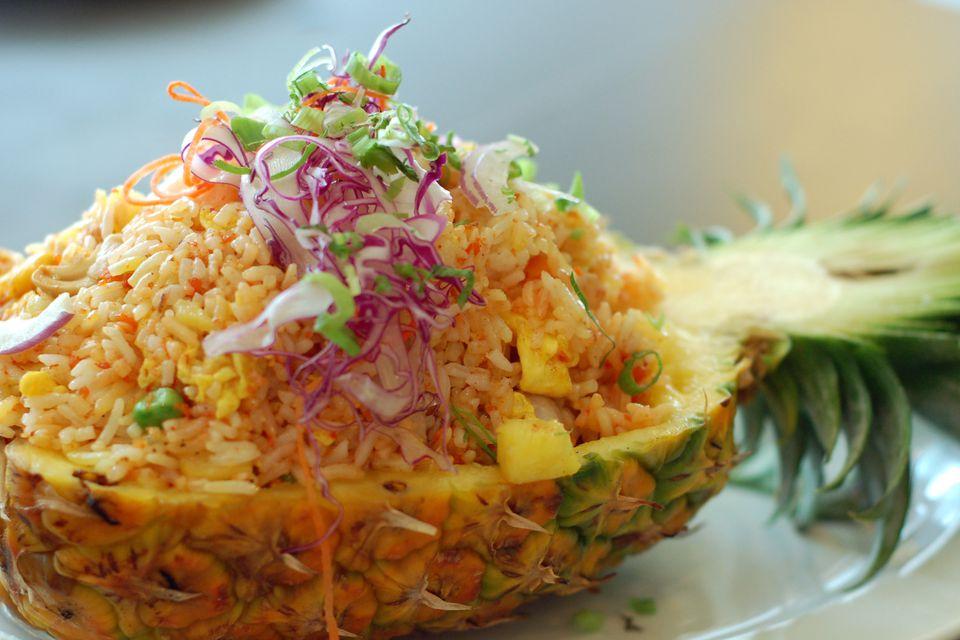 Vegetarian thai pineapple fried rice recipe thai pineapple fried rice forumfinder Gallery