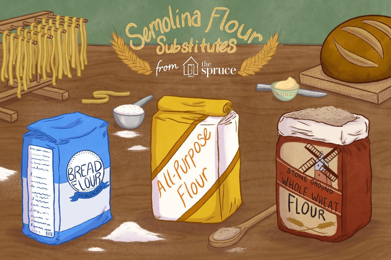 Substitutes for semolina flour