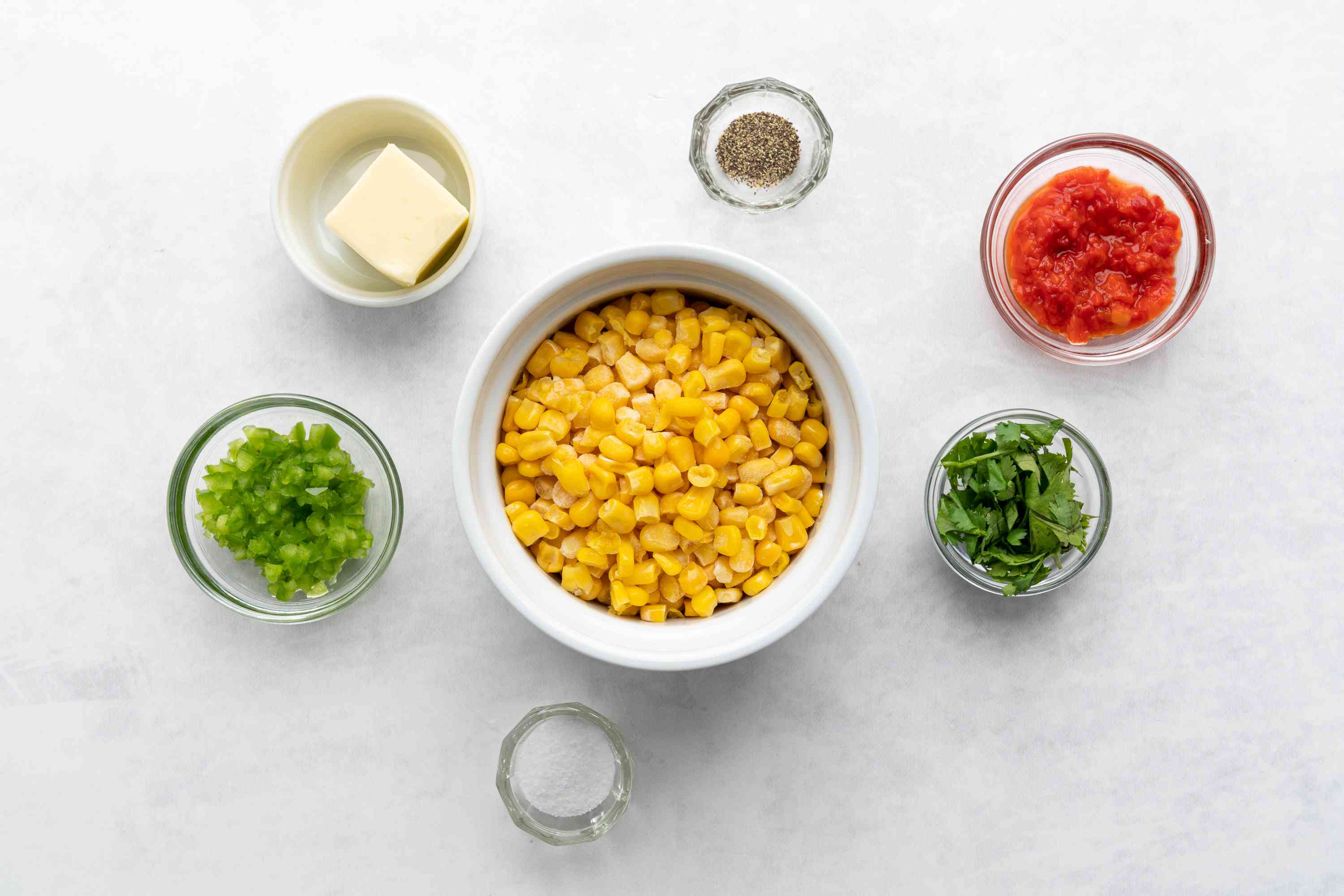 Mexican-Style Corn With Peppers ingredients