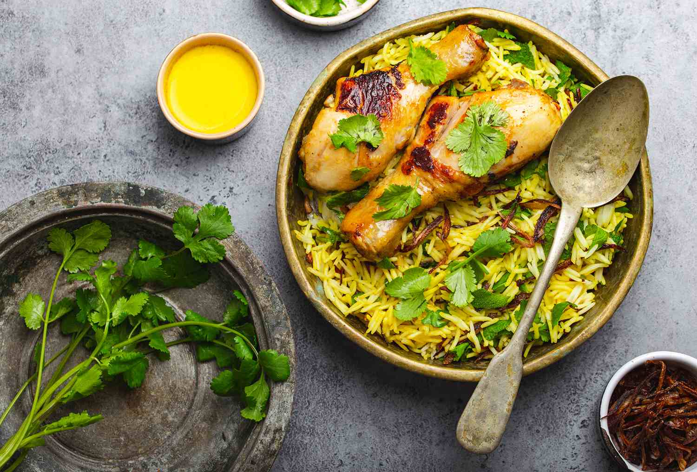Biryani Chicken With Basmati Rice