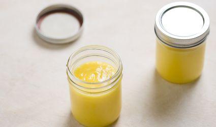 Lemon Curd in jars