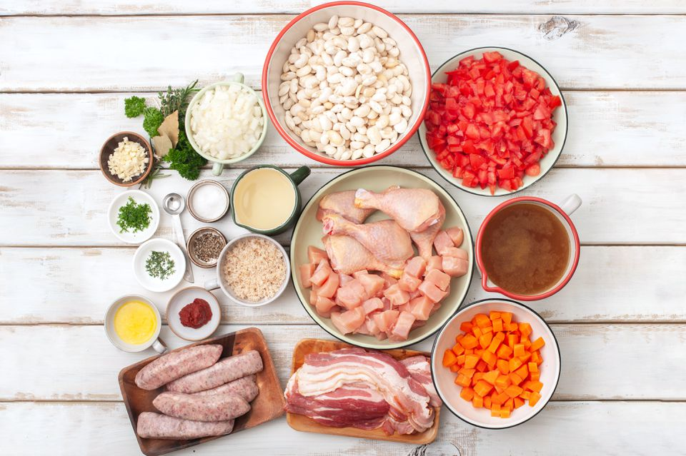 Chicken and sausage cassoulet recipe