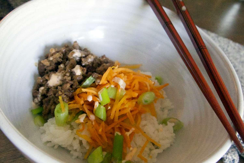 HelloFresh food in white bowl