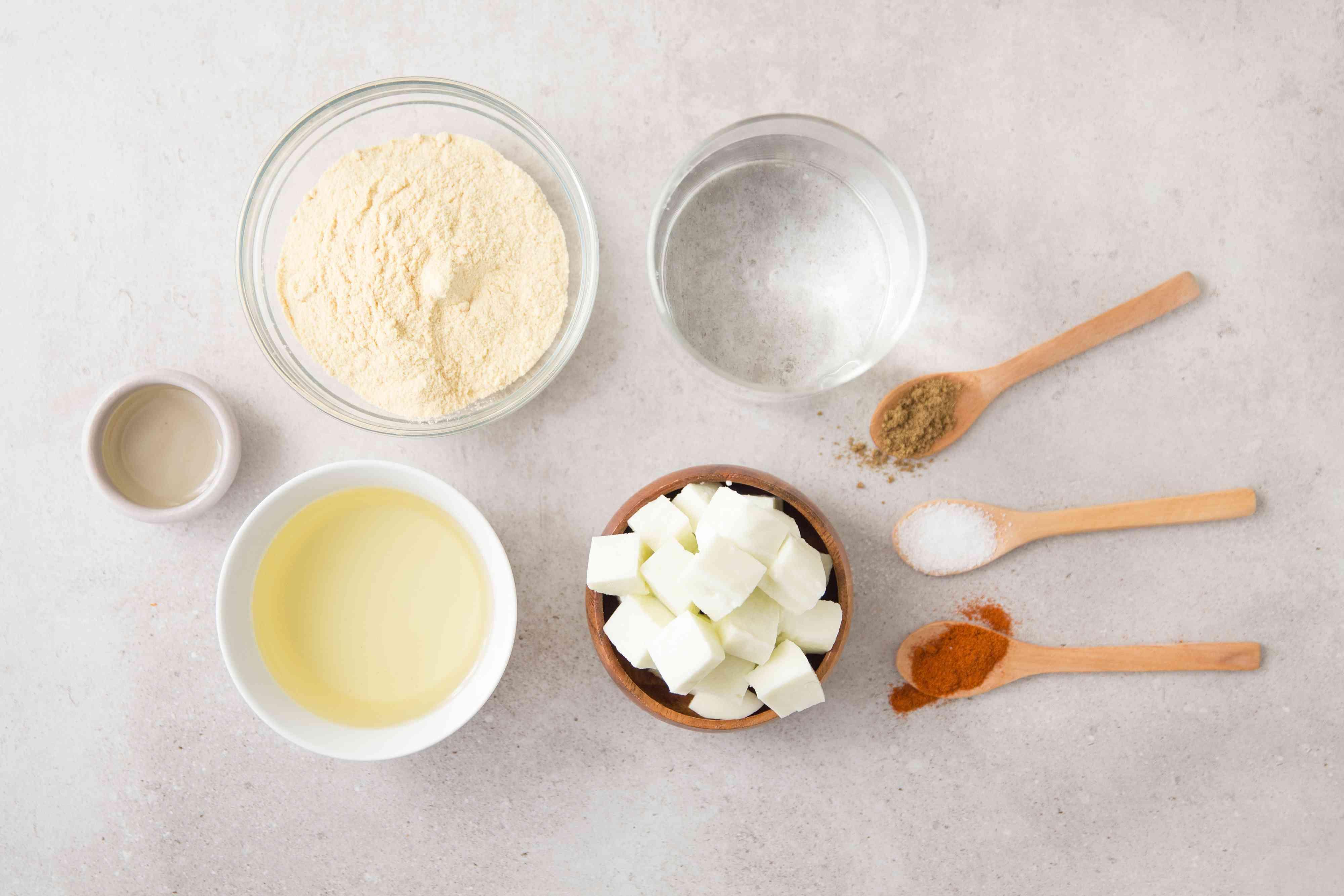 Ingredients for fried paneer