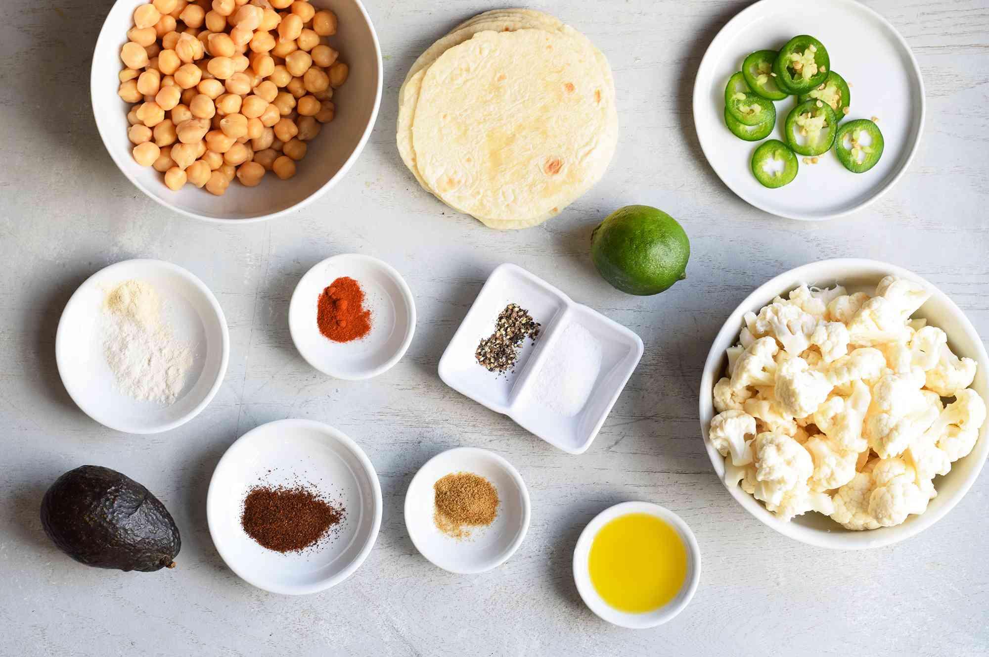 cauliflower taco ingredients