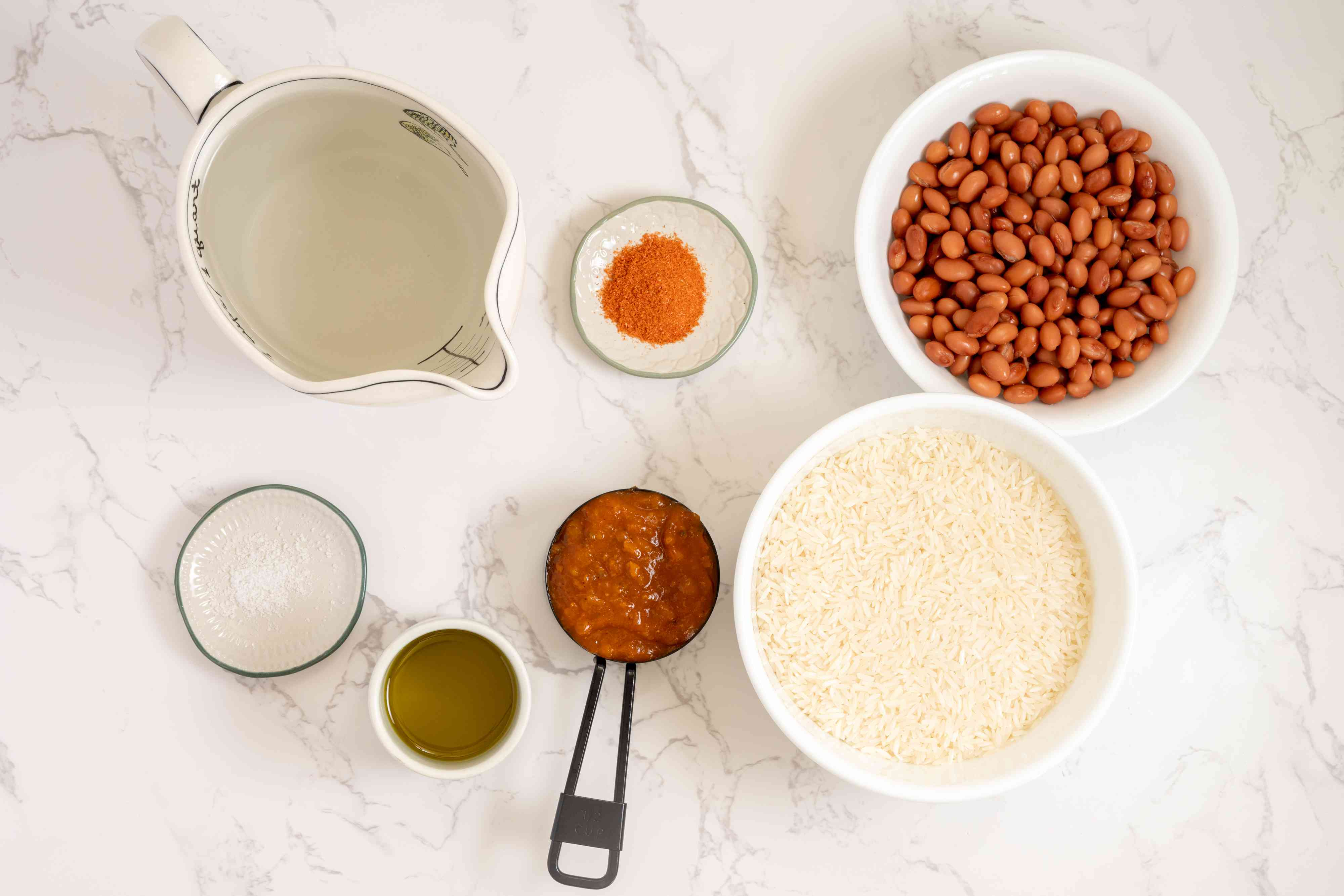 Caribbean Yellow Rice and Pink Beans ingredients