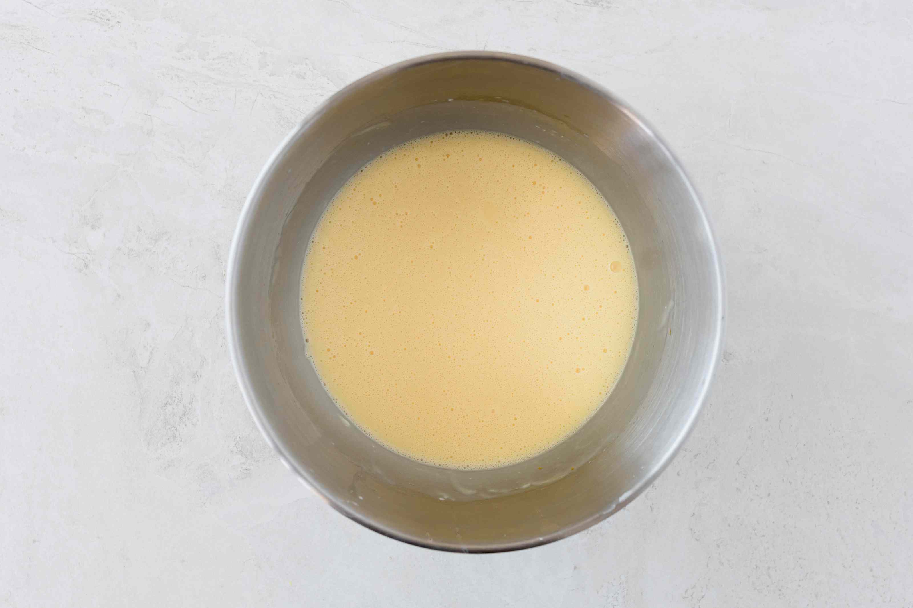 Dairy-free cheesecake filling in bowl