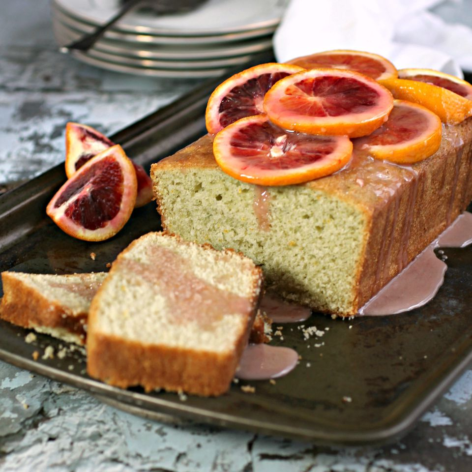 Blood Orange Cardamom Cake with Honey Orange Glaze