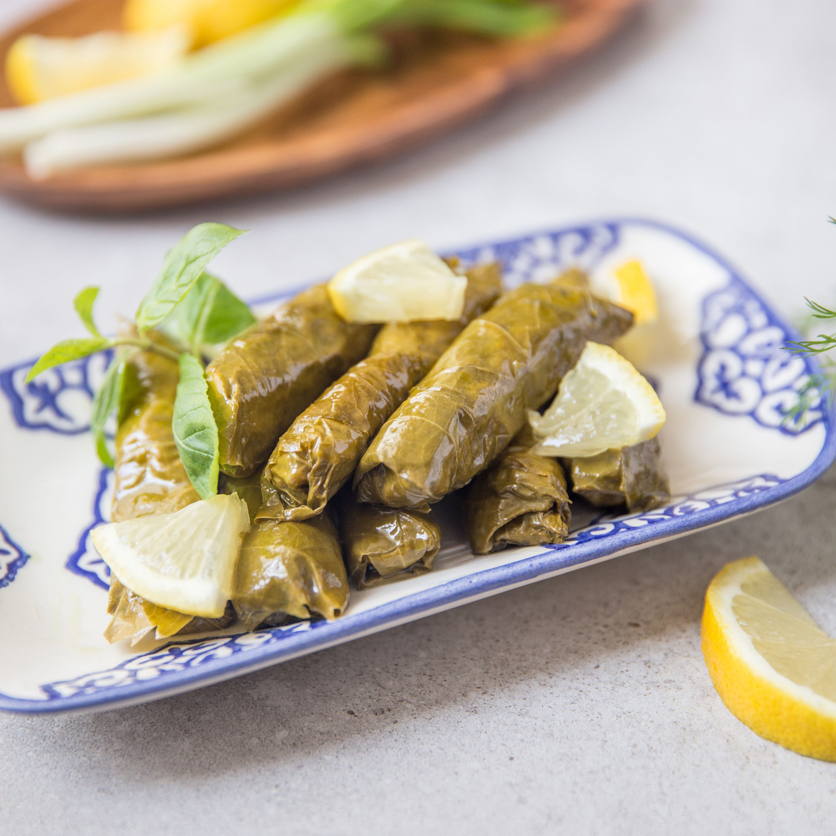 Stuffed Grape Leaves Dolmathakia Recipe