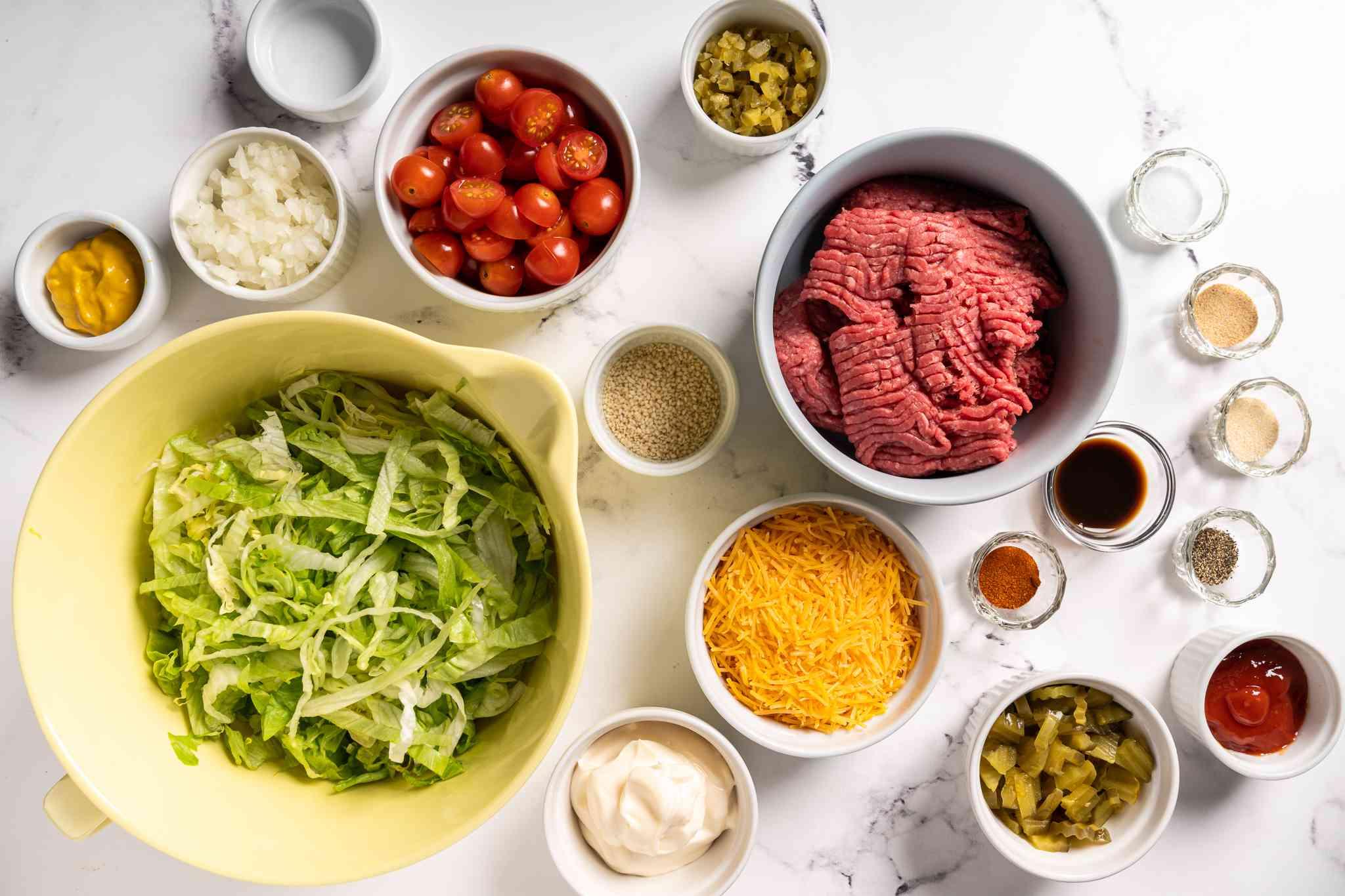Big Mac Salad ingredients