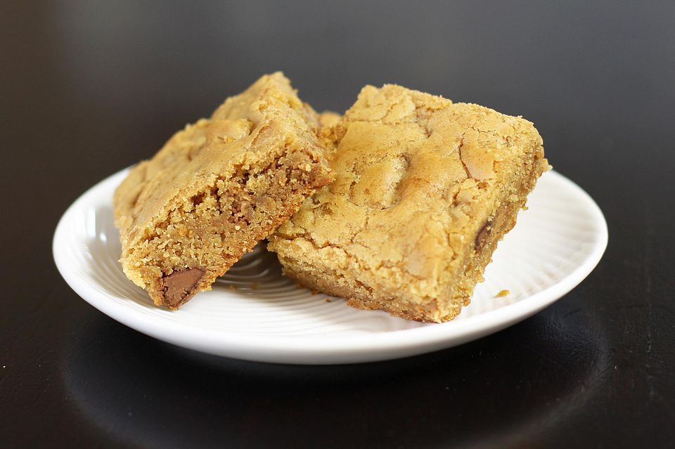 Blondies de mantequilla de maní